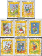 Maldives 2335-2342 (complete Issue) Unmounted Mint / Never Hinged 1995 Walt-Disney-FIG Donald Duck - Maldives (1965-...)
