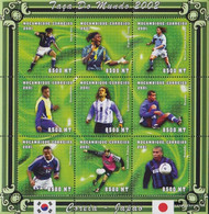Mosambik 1829-1837 Sheetlet Unmounted Mint / Never Hinged 2001 Football-WM 2002 - Mozambique