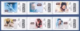 FRANCE STAR WARS Montimbrenligne, 24 étiquettes Autoadhésives Neuves** Cinéma, Film, Movie. Les Derniers Jedi. - 2010-... Illustrated Franking Labels