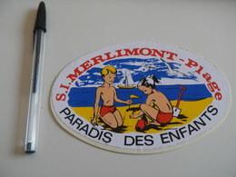 Autocollant - Ville - MERLIMONT - Enfants - Stickers