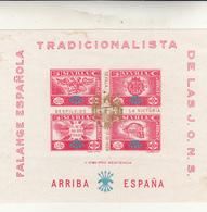 Spagna Guerra Civil, Falange Espanola Tradicionalista Foglietto 1933-1937 Arriba Espana. Nuovo - 1931-Oggi: 2. Rep. - ... Juan Carlos I