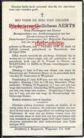 OORLOG GUERRE Frans Aerts Herent Politie Agent Gesneuveld Gefusilleerd Te Breendonk 1944 Bidprentje Doodsprentje - Santini