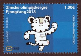Montenegro 2018 Winter Olympic Games PyeongChang, South Korea, Tiger MNH - Winter 2018: Pyeongchang