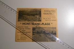 Mont Blanc Plage Sallanches - Pubblicitari