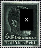 German Empire 672y (complete Issue) Unmounted Mint / Never Hinged 1938 10. Nazi Party - Germany