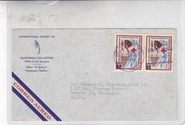 INTERNATIONAL SOCIETY OF GUATEMALLA COLLECTORS. AIRMAIL ENVELOPE CIRCULEE 1958 GUATEMALA TO USA- BLEUP - Costa Rica