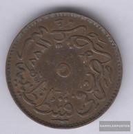 Turkey Km-number. : 699 1277 /4 Very Fine Copper Very Fine 1277 5 Para Tughra - Turkey
