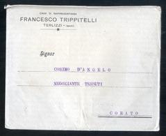 TERLIZZI 1916 - BUSTA (NON VIAGGIATA) + 2 CARTE COMMERCIALI - DITTA TRIPPITELLI - Italia