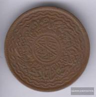 Haidarabad 46 1348 Very Fine Bronze 1348 2 Pai Toughra - India