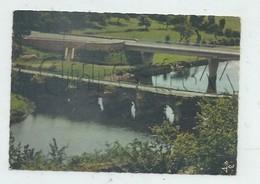 Chateauneuf-du-Faou (29) : Vue Générale Aérienne Au Niveau Des 2 Ponts Vieux Et Neuf En 1960 GF. - Châteauneuf-du-Faou