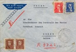 1962 , BRASIL , CORREO AÉREO , SOBRE CERTIFICADO , AGUAS DE LINDOIA - BERNA, LLEGADA - Brasil
