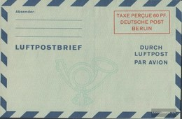 Berlin (West) LF2b IV Luftpost-Faltbrief Ungebraucht 1949 Wertkästchen - Berlin (West)