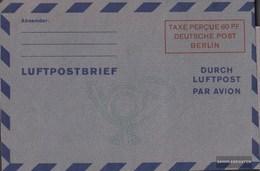 Berlin (West) LF2b III Luftpost-Faltbrief Ungebraucht 1949 Wertkästchen - Berlin (West)