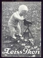ZEISS IKON -1931 - LIBRO CON IMMAGINI E ISTRUZIONI PER USO DI MACCHINE FOTOGRAFICHE DELLA ZEISS - Supplies And Equipment