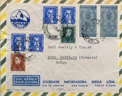 1964 , BRASIL , CORREO AÉREO , SOBRE CIRCULADO , SAO PAULO - BASILEA - Cartas