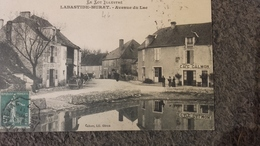 CPA 46 Labastide Murat - Avenue Du Lac Café Calmon - France