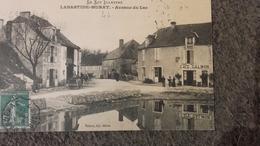 CPA 46 Labastide Murat - Avenue Du Lac Café Calmon - Frankreich