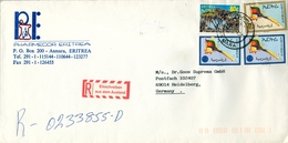1997 , ERITREA , SOBRE COMERCIAL CERTIFICADO , ASMARA - HEIDELBERG - Erythrée