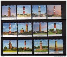 2007 To 2015 Germany - Lighthouses - 6 Full Sets - Paper - MNH** - Leuchttürme