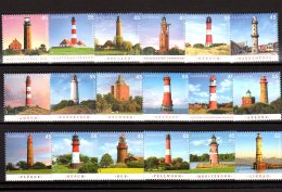 Stock Card Lighthouses 7 - As Per Scan - All Stamps Paper MNH** - Leuchttürme