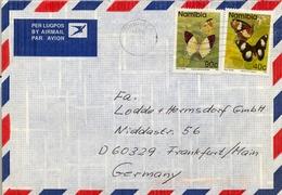 1996 , NAMIBIA , SOBRE CIRCULADO ENTRE WINDHOEK Y FRANKFURT , FR. MARIPOSAS , BUTTERFLYES - Namibia (1990- ...)