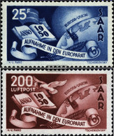 Saar 297-298 (complete Issue) Unmounted Mint / Never Hinged 1950 Host Europe - Unused Stamps