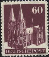 Bizone (Alliierte Besetzung) 93W I G Eng Gezähnt Postfrisch 1948 Bauten - American/British Zone