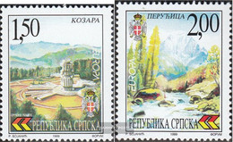 Serbian Republic Bos.-h 125-126 (complete Issue) Unmounted Mint / Never Hinged 1999 Nature- And National - Bosnia And Herzegovina