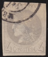 France    .      Y&T    .    41 B        .     O     .      Oblitéré    .    /    .     Cancelled - 1870 Bordeaux Printing