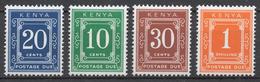 Kenya 1971 Postage Due Mi# 14+ 15+ 16+ 18** - Kenya (1963-...)