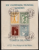 Pérou B.F N° 2  (surcharge Melbourne Sur Timbres J.O Londres 1948 ) - Sommer 1956: Melbourne