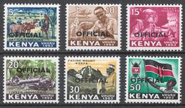 Kenya 1964 Official Stamps Mi# 1-6** - Kenya (1963-...)