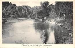 """L'Ourthe Et Les Rochers à Sy - """"La Cathédrale"""" - Ferrieres"""