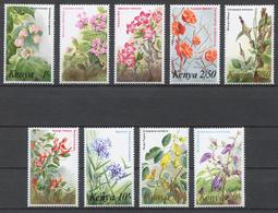 Kenya 1983 Mi# 246-54** DEFINITIVE, FLOWERS - Kenya (1963-...)