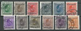 Yougoslavie YT N°239/250 Alexandre 1° Surchargé Jugoslavia Oblitéré ° - 1931-1941 Royaume De Yougoslavie