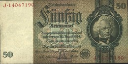 Deutsches Reich Rosenbg: 175b, Udr.-Bst.: Un, Serie: F-K, KN 8-stellig Usato (III) 1933 50 RM - 1933-1945: Drittes Reich