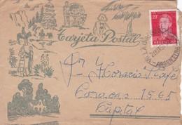 ENVELOPE CIRCULEE 1956 CORDOBA TO BUENOS AIRES ARGENTINE, MOTIVOS LUGAREÑOS TARJETA POSTAL- BLEUP - Lettres & Documents