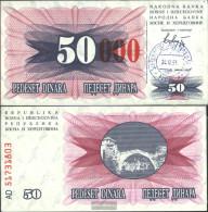 Bosnia-Herzegovina Pick-number: 55d Uncirculated 1993 50.000 Dinara - Bosnia And Herzegovina