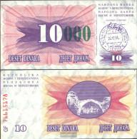Bosnia-Herzegovina Pick-number: 53c Uncirculated 1993 10000 Dinara - Bosnia And Herzegovina