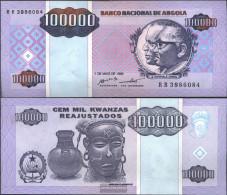 Angola Pick-number: 139 Uncirculated 1995 100.000 Kwanzas Reajustados - Angola