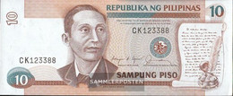 Philippines Pick-number: 169b Uncirculated 1985 10 Piso - Philippines