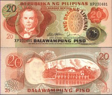 Philippines Pick-number: 162c Uncirculated 1978 20 Piso - Philippinen