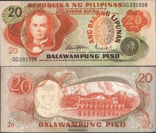 Philippines Pick-number: 155a Uncirculated 20 Piso - Philippines