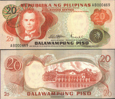 Philippines Pick-number: 150a Uncirculated 20 Piso - Philippines