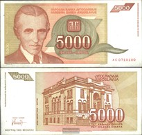 Jugoslawien Pick-Nr: 128 Bankfrisch 1993 5.000 Dinara - Jugoslavia