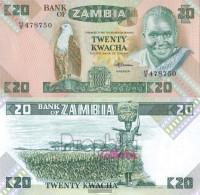 Sambia Pick-number: 27e Uncirculated 1988 20 Kwacha Eagles - Zambia