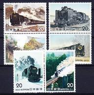 JAPON 1975 YT N° 1144 à 1147, 1157 Et 1158 ** - 1926-89 Imperatore Hirohito (Periodo Showa)