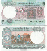 India Pick-number: 80j Uncirculated 1985 5 Rupees - India