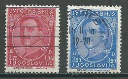Yougoslavie YT N°261/262 Roi Alexandre 1° Oblitéré ° - 1931-1941 Royaume De Yougoslavie