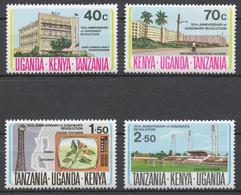 KUT 1974 Mi# 267-70** 10th ANNIVERSARY OF ZANZIBAR REVOLUTION - Kenya, Uganda & Tanganyika